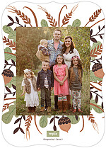 Lets Be Thankful Ornate Thanksgiving Flat Cards - Back