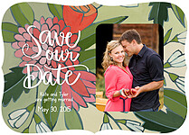Flourishing Love Ornate Save the Date Flat Cards - Front