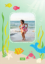 Mermaid Magic Birthday Party Invitations Flat Cards - Back