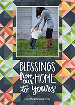 Pleasant Prism Thanksgiving Flat Cards - Front