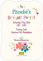 Smitten Kitten Birthday Party Invitations Flat Cards - Back