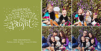 Speckled Green Holiday Photo Cards - Horizontal