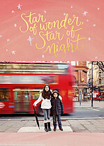 Starry Wonder Holiday Flat Cards - Front