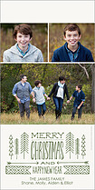 Tiny Timber Christmas Photo Cards - Vertical