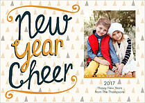 Year Of Cheer New Year Flat Cards - Front
