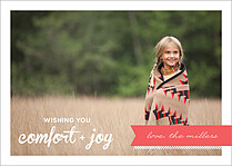 Comfort And Joy Holiday Flat Cards - Front