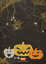 Creepy Crawlers Halloween Flat Cards - Back