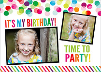 Good Times Birthday Party Invitations Flat Cards - Front