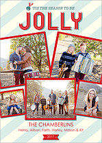 Jolly Jubilee Holiday Flat Cards - Front