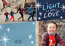 Love And Light Hanukkah Flat Cards - Back