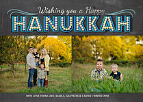 Marquee Lights Hanukkah Flat Cards - Front