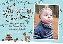 Nature Calls Christmas Flat Cards - Front