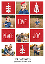 Patchwork Peace Holiday Flat Cards - Front