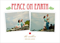 Peaceful Bliss Holiday Flat Cards - Front