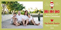 Santa Shuffle Green Photo Card - Horizontal