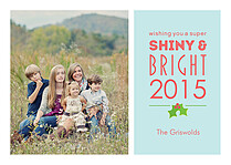 Shiny And Bright Holiday Flat Cards - Front