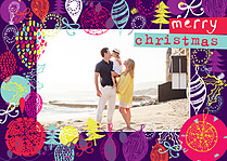 Splash Of Color Christmas Flat Cards - Front