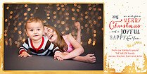 Starry Night Christmas Photo Cards - Horizontal