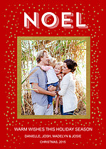 Stunning Specks Red Holiday Flat Cards - Front