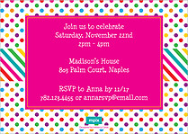 Cake Time Birthday Party Invitations Flat Cards - Back