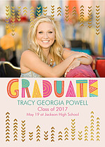 Best And Brightest Graduation Foil Pressed Cards - Front