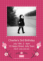 Birthday Belle Birthday Party Invitations Flat Cards - Back