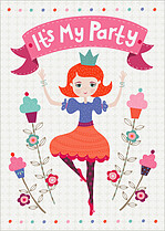 Birthday Belle Birthday Party Invitations Flat Cards - Front