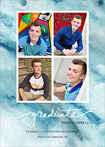 Blue Skies Graduation Flat Cards - Front