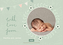 Bunny Bundle Birth Announcements Flat Cards - Back
