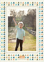 Campout Party Birthday Party Invitations Flat Cards - Back