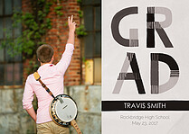 Chill Dreams Gray Graduation Flat Cards - Front