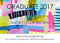Color Blast Graduation Flat Cards - Front