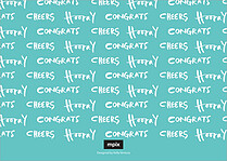 Congrats Grad Graduation Flat Cards - Back