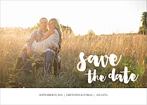 Dandy Devotion Date Save the Date Flat Cards - Front