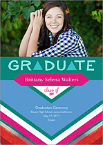 Distinguished Statement Graduation Flat Cards - Front