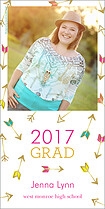 Going Up Graduation Photo Cards - Vertical
