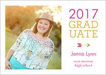 Going Up Graduation Flat Cards - Front
