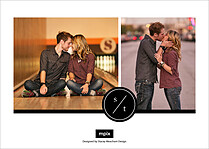 Graceful Bond Date Save the Date Flat Cards - Back