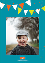 Hippo Hooray Birthday Party Invitations Flat Cards - Back