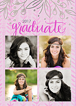 Homegrown Love Graduation Foil Pressed Cards - Front
