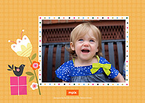 Hoppy Birthday Birthday Party Invitations Flat Cards - Back