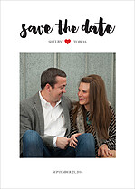 Little Heart Date Save the Date Flat Cards - Front