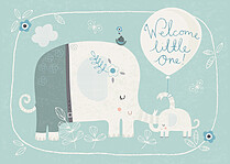 Little Trunks Birth Announcements Flat Cards - Front