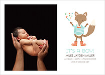 Our Love Birth Announcements Flat Cards - Front