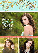 Pleasant Moment Graduation Foil Pressed Cards - Front