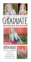 Polished Success Pink Graduation Photo Cards - Vertical