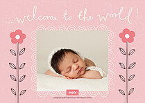 Precious Owlet Birth Announcements Flat Cards - Back