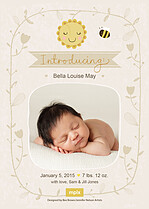 Proud Vixen Birth Announcements Flat Cards - Back