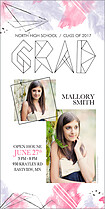 Space Cadet Graduation Photo Cards - Vertical