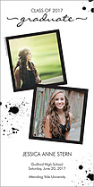 Splatter Matter Graduation Photo Cards - Vertical